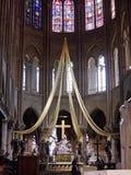 Notre Dame de Paris. Cathedral interior royalty free stock photos