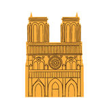 Notre Dame de Paris Cathedral isolated on white. Royalty Free Stock Photo