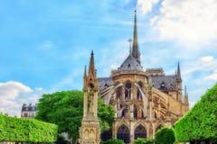 Notre Dame de Paris Cathedral, mooiste Kathedraal in Parijs Stock Foto's
