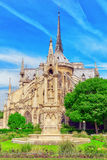 Notre Dame de Paris Cathedral, most beautiful Cathedral in Paris Stock Images