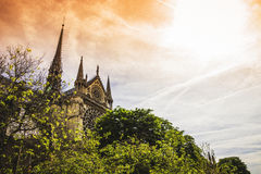 Notre Dame de Paris Cathedral. Most beautiful Cathedral in Paris. Stock Photo