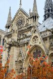 Notre Dame de Paris Cathedral, most beautiful Cathedral in Paris. stock photo