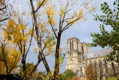 Notre Dame de Paris Cathedral, most beautiful Cathedral in Paris. stock images