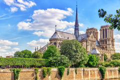Notre Dame de Paris Cathedral, most beautiful Cathedral in Paris Royalty Free Stock Photo