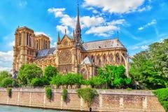 Notre Dame de Paris Cathedral. Royalty Free Stock Photo