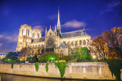 Notre Dame de Paris cathedral Stock Photos