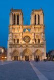 Notre Dame de Paris cathedral-night view Stock Images