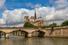 Notre Dame de Paris Cathedral in Paris, France. Royalty Free Stock Images
