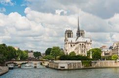Notre Dame de Paris Cathedral.Paris. Stock Photos