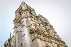 Notre-Dame de Paris. Cathedral in Paris, France Royalty Free Stock Images