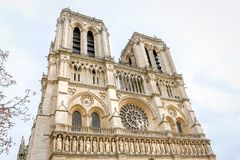 Notre-Dame de Paris. Cathedral in Paris, France Royalty Free Stock Photography