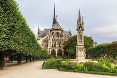 Notre Dame de Paris cathedral , Paris, France stock images