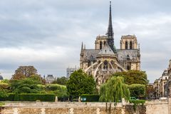 Notre Dame de Paris cathedral , Paris, France stock photos