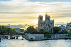 Notre Dame de Paris Cathedral Stock Images