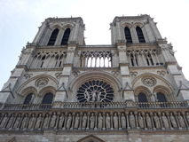 Notre-dame de paris cathedral. View at the cathedral notre dame de paris stock photo