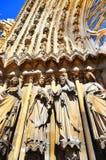 Notre Dame De Paris Cathedral View In París en Francia Fotografía de archivo libre de regalías
