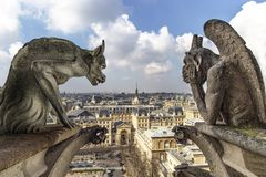 Notre Dame De Paris Chimera Royalty Free Stock Photos