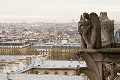 Notre Dame de Paris: Chimera Stock Photo
