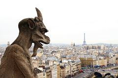Notre Dame de Paris: Chimera Royalty Free Stock Images