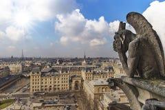 Notre Dame de Paris Chimera Stock Images