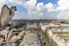 Notre Dame de Paris Chimera Stock Photos