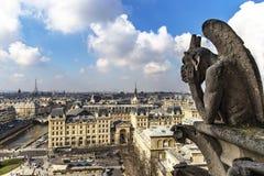 Notre Dame de Paris Chimera Stock Image