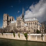 The Notre dame de Paris church Stock Images