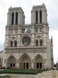Notre Dame de Paris. In cloudy day Stock Image