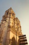 Notre Dame de Paris do canto noroeste foto de stock royalty free