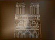 Notre-Dame de Paris da catedral em França - 3 Foto de Stock