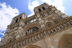 Notre-Dame de Paris de Cathedrale Imagen de archivo libre de regalías