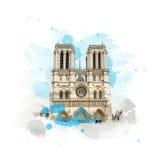 Notre Dame de Paris de Cathedrale Foto de archivo