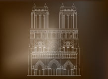 Notre-Dame de Paris de la catedral en Francia - 3 Foto de archivo