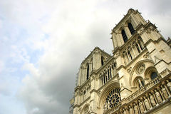 Notre Dame de Paris después de la tormenta Foto de archivo