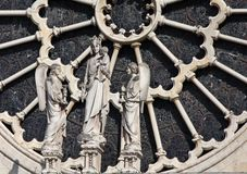 Notre-Dame de Paris detail Stock Photography