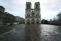 Notre Dame de Paris di mattina Immagine Stock Libera da Diritti