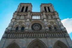Notre Dame de Paris domkyrka, Paris, Frankrike Arkivbilder