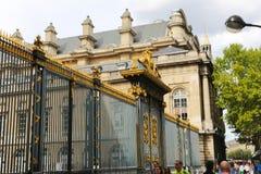 Notre dame de Paris door Stock Images