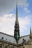 Notre Dame de Paris du flèche de de La Photographie stock libre de droits