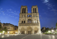 Notre Dame de Paris at early morning Royalty Free Stock Photos