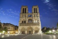 Notre Dame de Paris at early morning Royalty Free Stock Photos