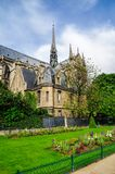 Notre-Dame de Paris en mai 2014 photos libres de droits