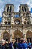 Notre-Dame de Paris en mayo de 2014 fotografía de archivo libre de regalías