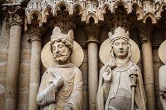 Notre Dame de Paris Exterior Details, Paris Stockfotografie
