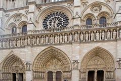 Notre-Dame de Paris. Facade's details of Notre-Dame of Paris Cathedral Stock Photography
