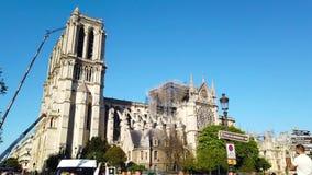 Notre Dame De Paris After The Fire banque de vidéos