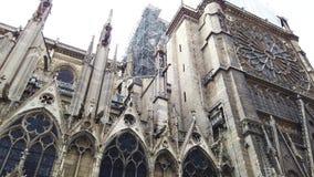Notre Dame De Paris After The Fire stock video