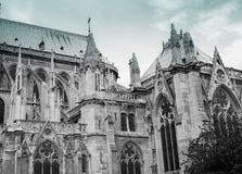 Notre Dame de Paris: Flying Buttress Stock Photos