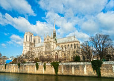 Notre dame de Paris, France. Royalty Free Stock Images