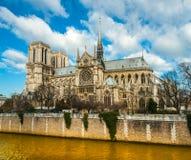 Notre dame de Paris, France. Royalty Free Stock Photo